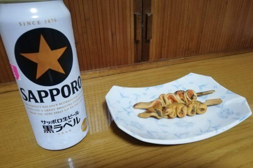 ビールとほや串
