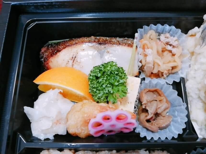 特製弁当の焼き魚