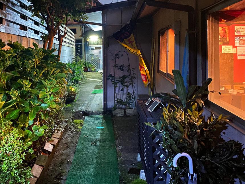 吉田家の裏路地