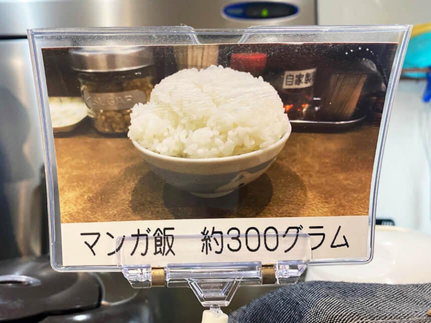マンガ飯300グラム