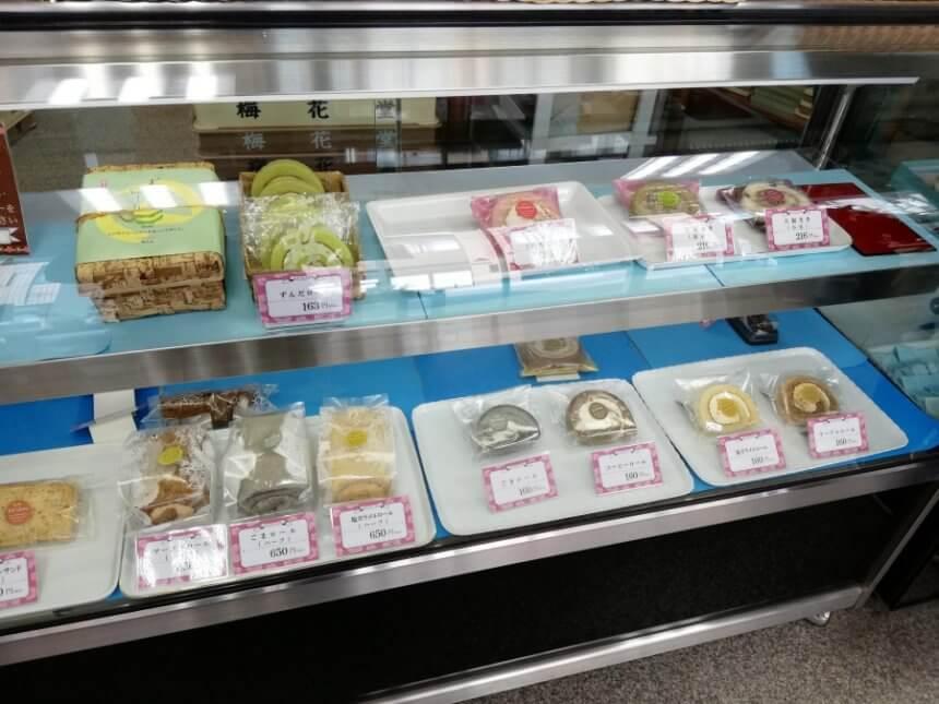 梅花堂の洋菓子
