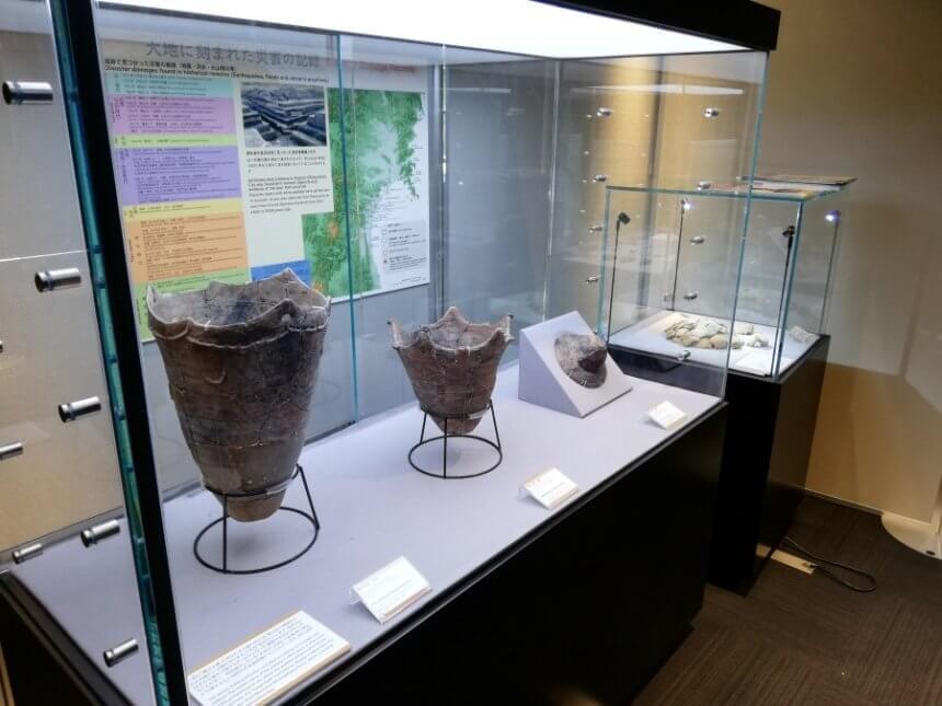 展示されている土器