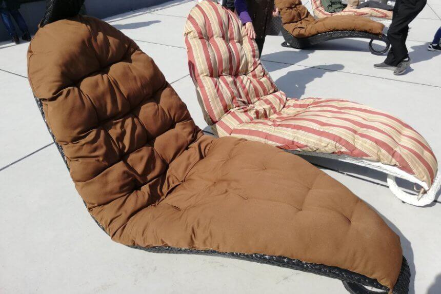 竹細工の椅子