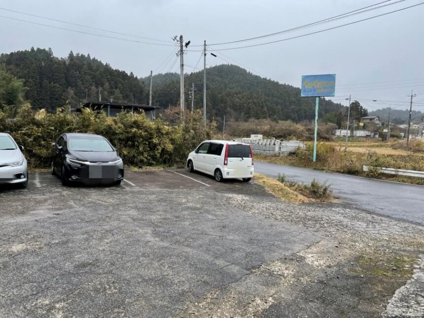 むらさき屋の駐車場