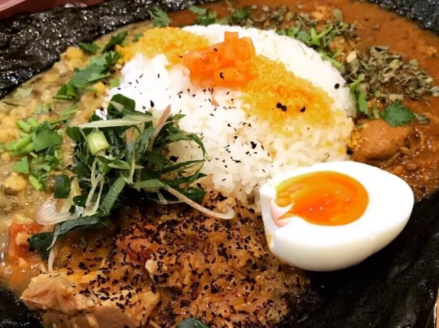 カツオ風味の豆カレー