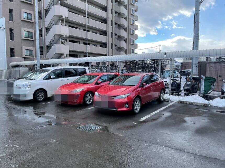 つけ麺まるやの駐車場