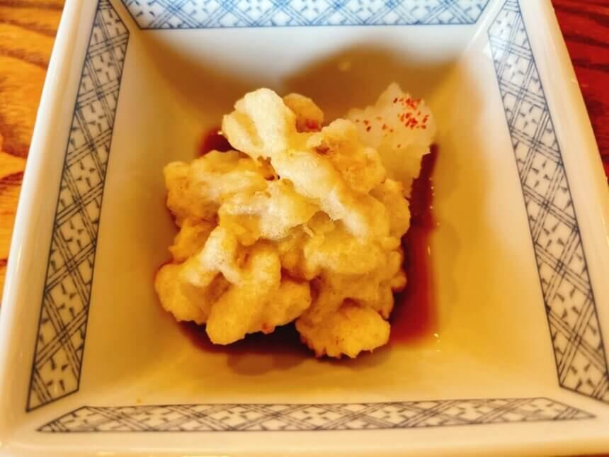 白子の天ぷら