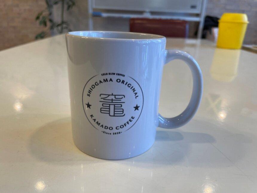 竈コーヒーのマグカップ