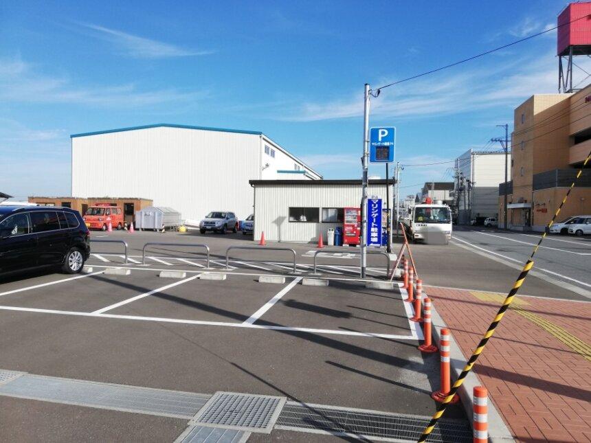 塩竈市津波防災センターの駐車場