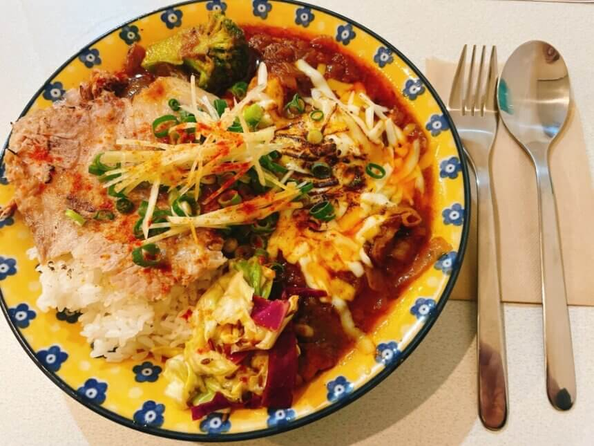 竹鶏カリーとヤサイカリー