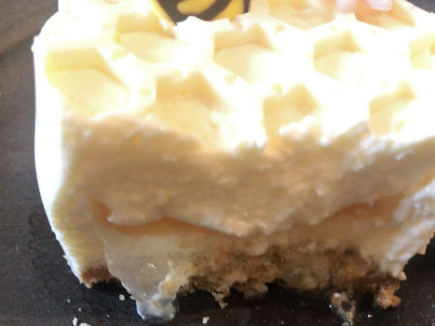 贅沢はちみつチーズケーキ断面図