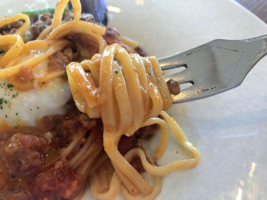 ボロネーゼの麺