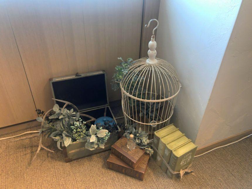 店内装飾(鳥かご)