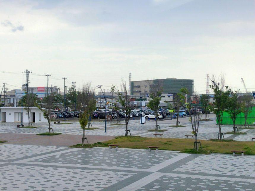 仙台うみの杜水族館の駐車場