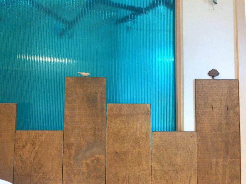 手作りの壁板