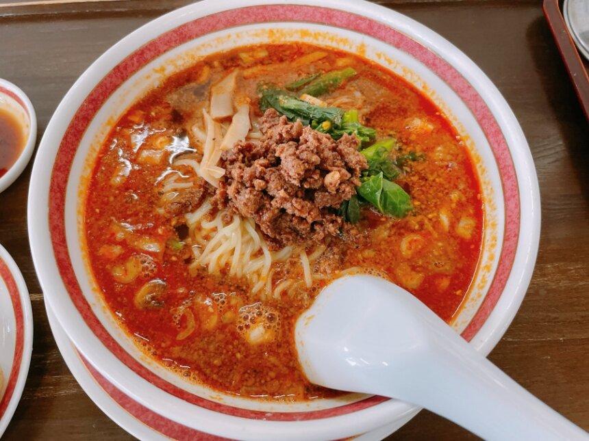 福来苑の担々麺