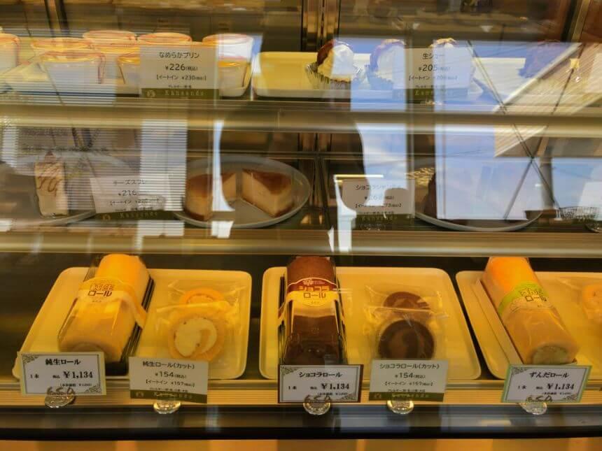 冷蔵洋菓子コーナー(左側)