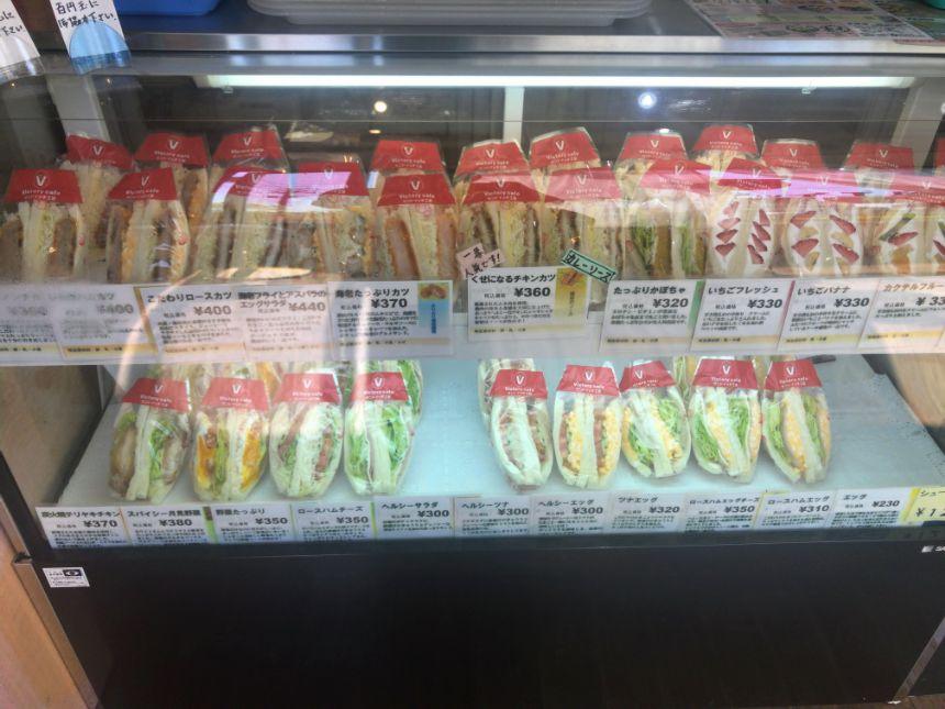 サンドイッチのショーケース