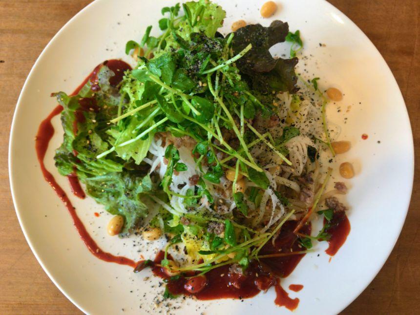 大豆とひき肉のビビンバプレート