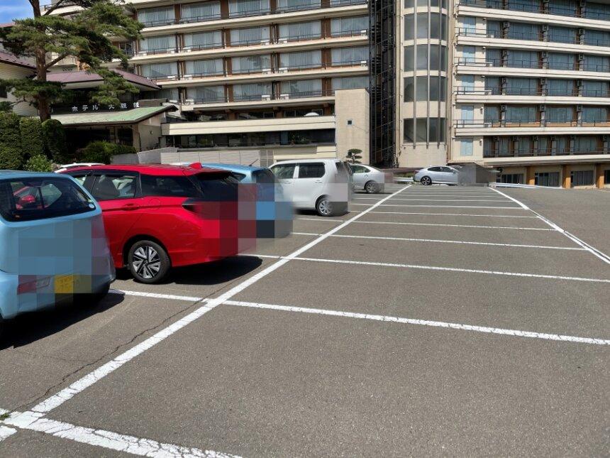 大観荘の駐車場