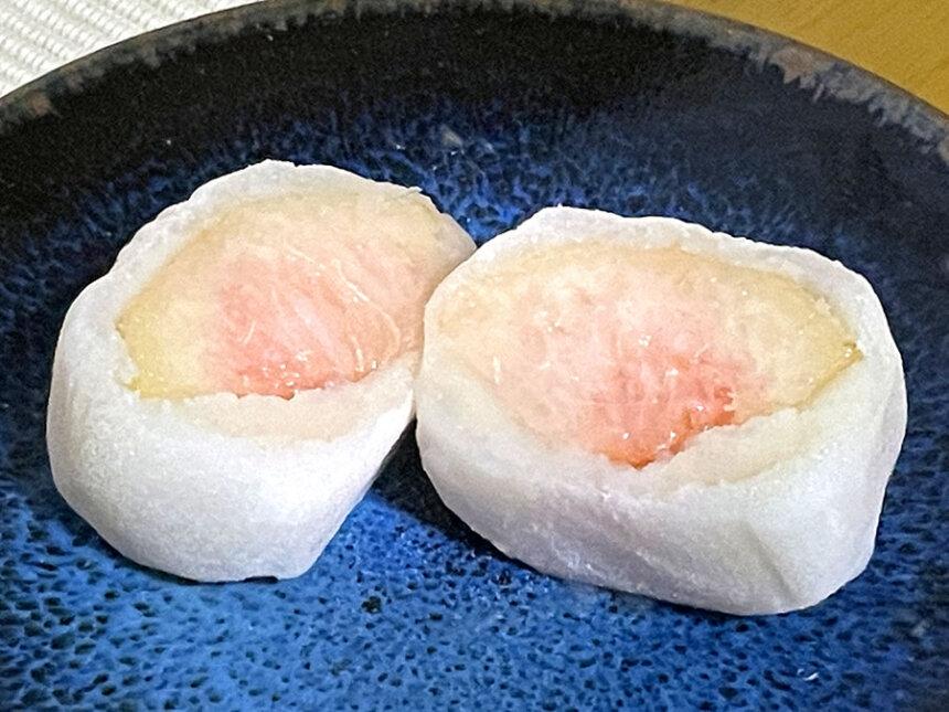 桃のフルーツ大福