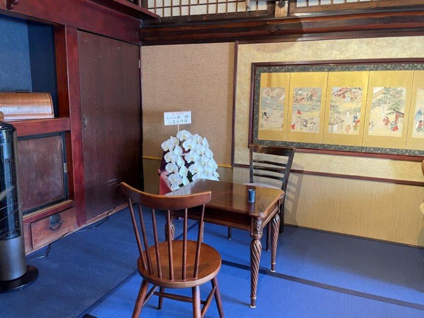 アンティーク家具と和屏風