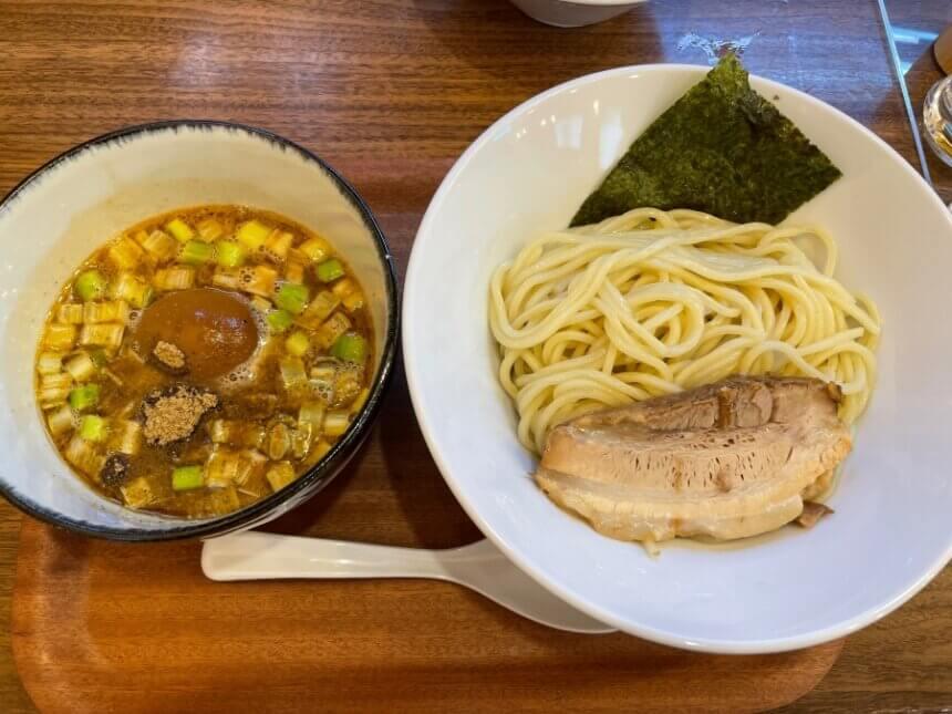 味玉魚つけ麺