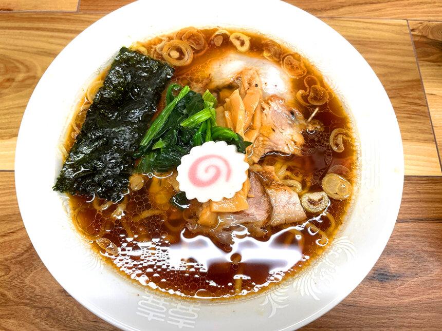 越後拉麺はなびのチャーシューメン