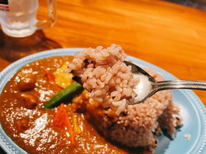 古代米入りのライス