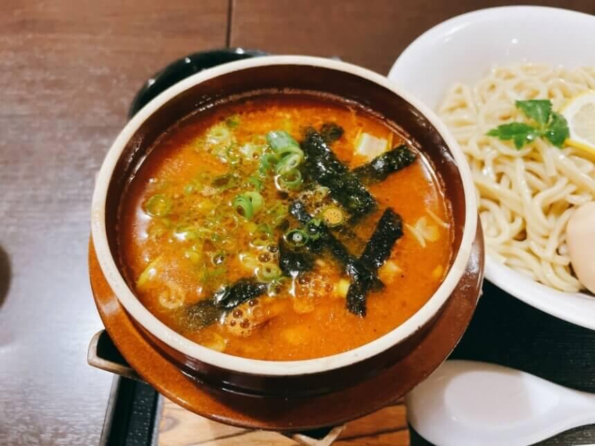 海老つけ麺のスープ