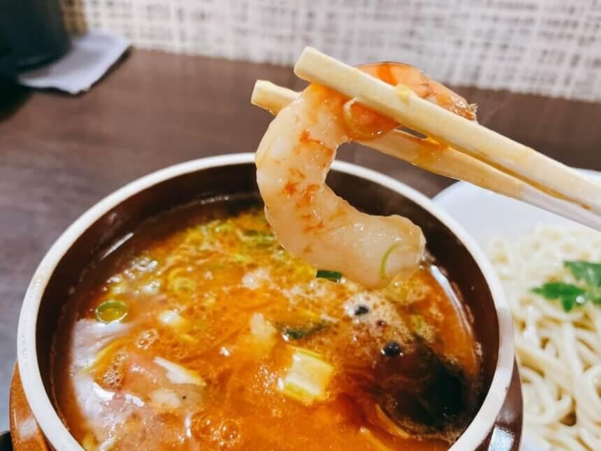 つけ麺の生海老