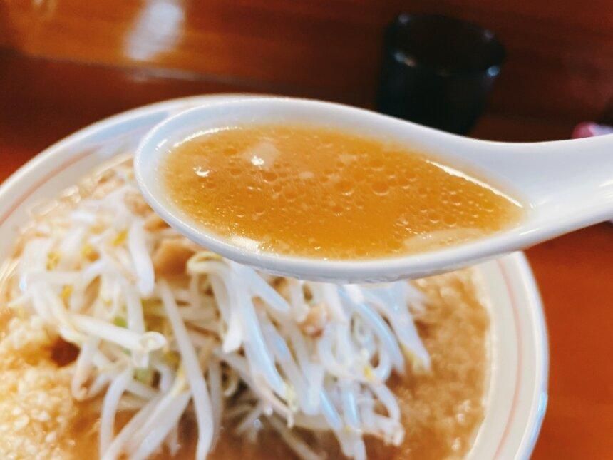 ラーメンの乳化スープ