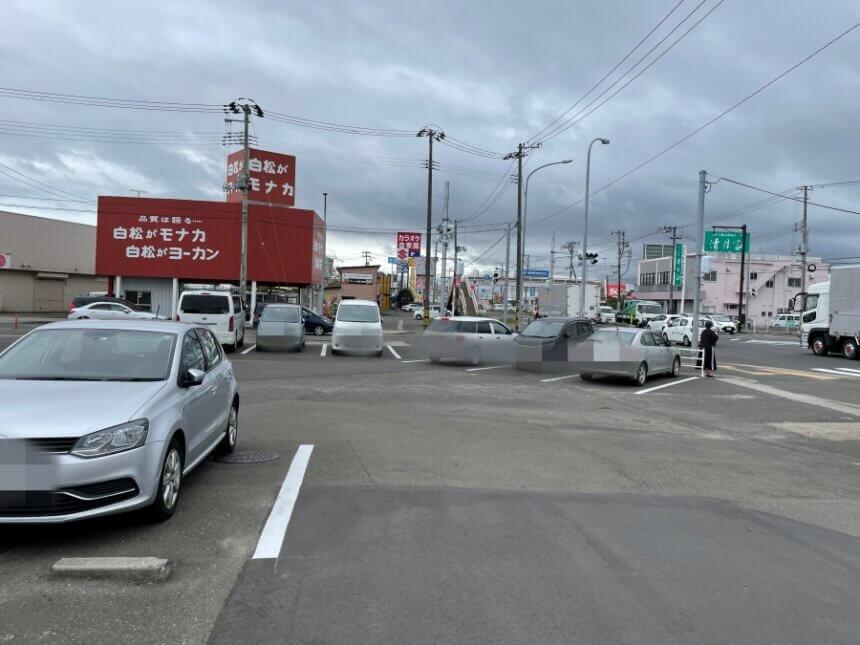 自家製蕎麦ソバビリーの駐車場